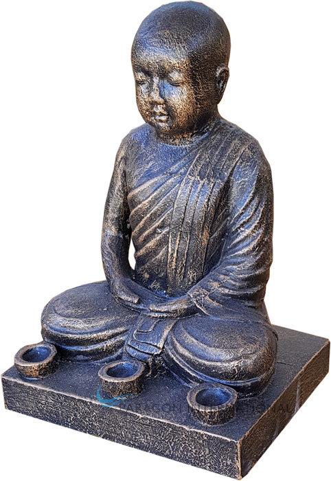 Sitting Buddha 3 light Statue