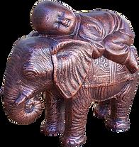 Buddha sleeping on elephant statue.png