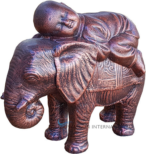 Shaolin Sleeping on Elephant Statue