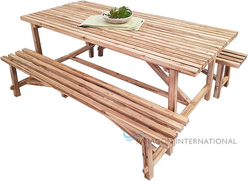 Recycled Teak Bench Set
