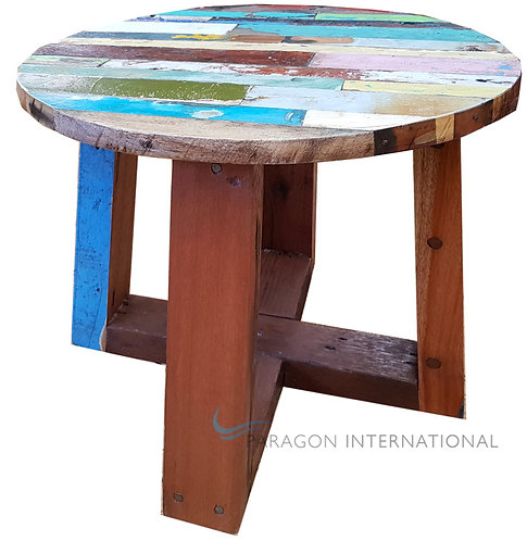 Boatwood Side Table - Finger Round