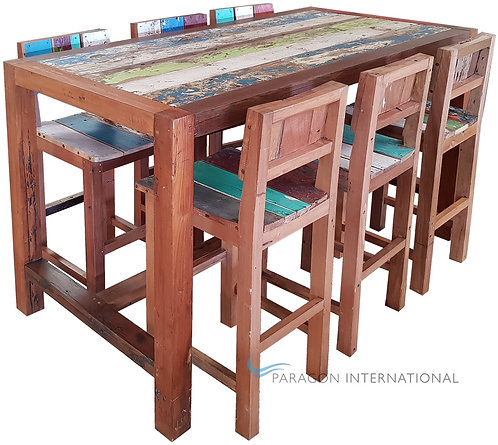 Boatwood Bar Table