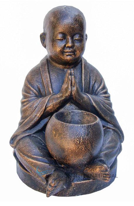 Shaolin Praying Candle Statue