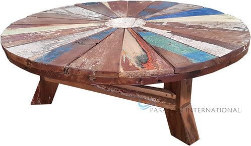 Boatwood Low Round Table