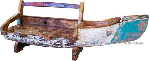 Boatwood Sofa Half Antique