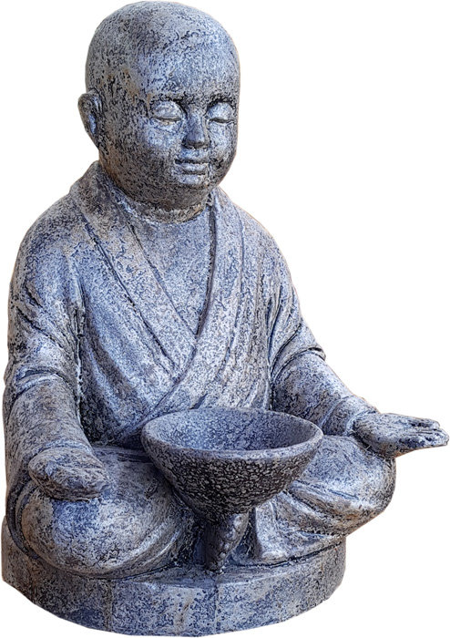 Shaolin Meditating with Candle Statue