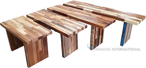Recycled Patchwork Benches