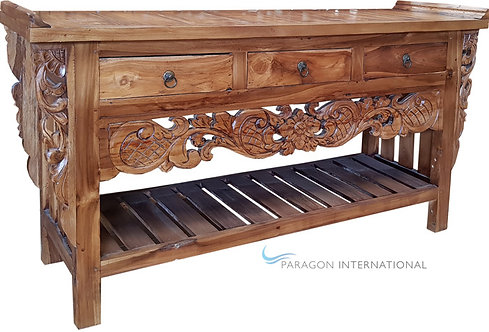 Recycled Timber Carved Console