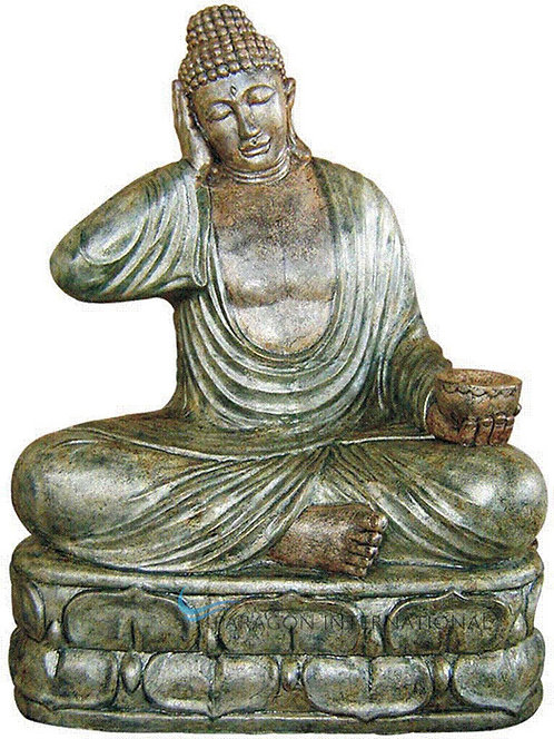 Lazy Buddha with Candle Statue