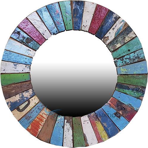 Boatwood Mirror - Round