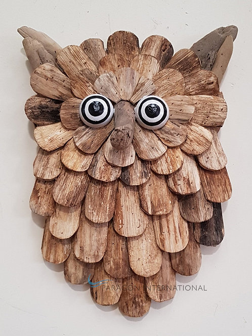 Wall Art - Wooden Owl