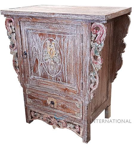 Reclaimed Teak Carved Cabinet