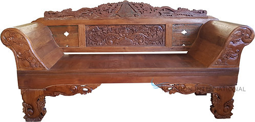 Recycled Timber Carved Daybed