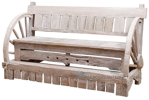 Recycled Timber Wheel Bench