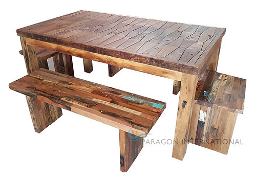 Recycled Patchwork Table