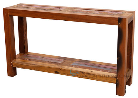 Boatwood Sofa table with Shelf
