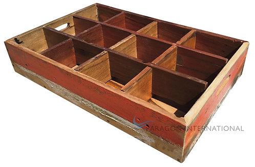 Boatwood Bottle Tray - Low
