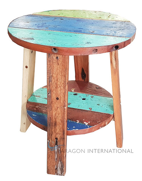 Boatwood Side Table - Round