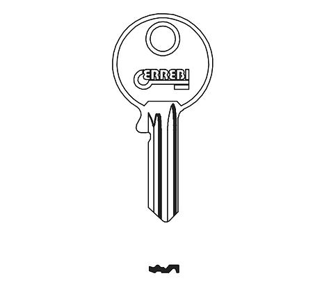 Abus AU58R Errebi Padlock Key Blank (JMA ABU-20 / AB6540 / AB52R)