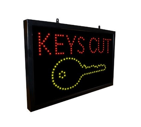 Key Cutting LED Sign