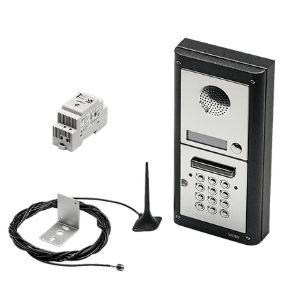 VIDEX 4K1S/GSM/CL 1 Way Surface Mounted Audio GSM Kit with Keypad - 4K1S/GSM/CL