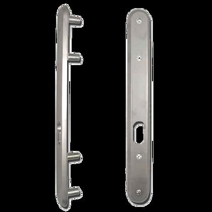 KICKSTOP 9601 300mm LockGuard - Satin Chrome Oval