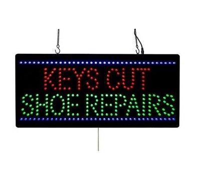 Keys Cut and Shoe Repairs Advertising LED Sign