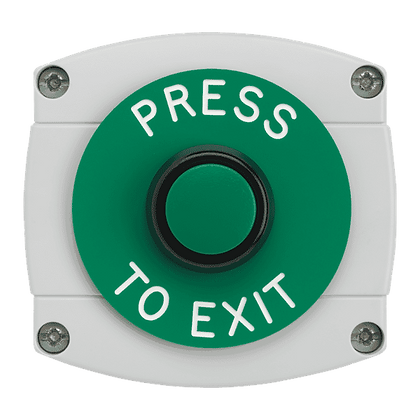 ASEC Surface Mounted Button - `Press To Exit`