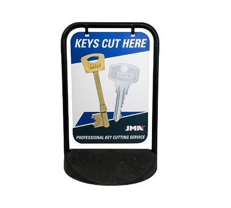 JMA Key Cutting Pavement Sign