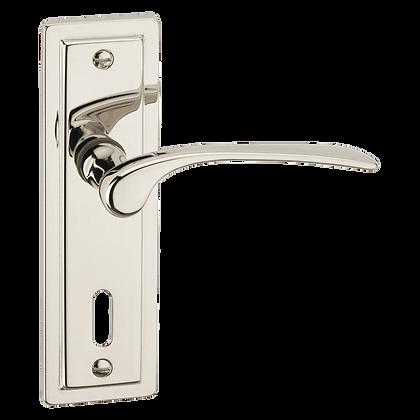 ASEC URBAN New York Lever on Plate Lock Door Furniture - P Nickel