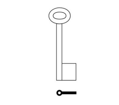 Cabinet TS074/8 Steel Pipe Cabinet Key Blank
