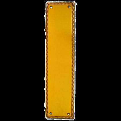 ASEC Georgian 73mm Wide Polished Brass Finger Plate - 305mm