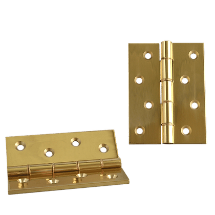 ASEC Double Steel Washer Hinge - 102mm X 75mm X 4mm P Brass