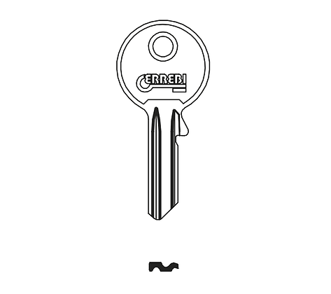 Abus AU4PD Errebi Padlock Key Blank (AB2 / ABU-42D / D9CS / CS4)