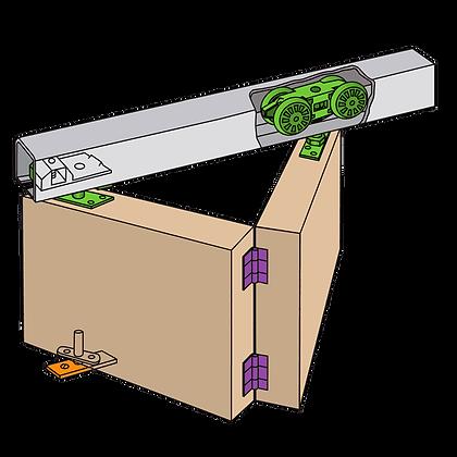 HENDERSON Husky Folding Track Sliding Door Gear - 1200mm