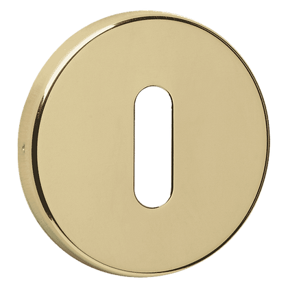 ASEC URBAN Concealed Fixing Standard Key  Escutcheon - Polished Brass