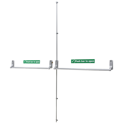 UNION ExiSAFE Panic Bolt Set For Rebated Double Doors - For Metal Doors