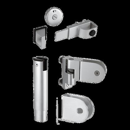 ASEC Aluminium 4-Part Cubicle Kit - Kit For 20mm Board