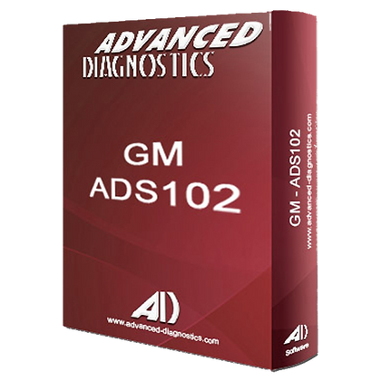 ADVANCED DIAGNOSTICS ADS102 GM & Vauxhall Category A Software - ADS102