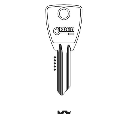 Sofi SO5S Errebi Cylinder Key Blank (OF10L / SI1R / SO1R / SOFI-2I) JMA HD SILCA