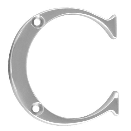 ASEC Metal Letters - 50mm Chrome Plated `C`