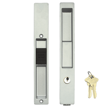 ADAMS RITE 4100 Series Flush Handle Set - 4190 Silver (With Cylinder)