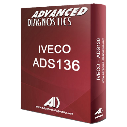 ADVANCED DIAGNOSTICS ADS136 Iveco (Inc CAN) Category A Software - ADS136