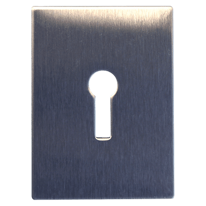 SOUBER TOOLS JE2 Self Adhesive UK Escutcheon - Stainless Steel