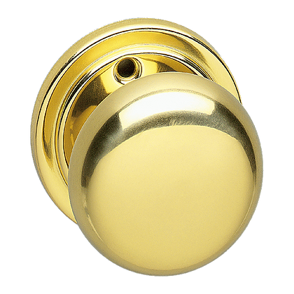 ASEC URBAN 52mm Mortice Knob - Polished Brass