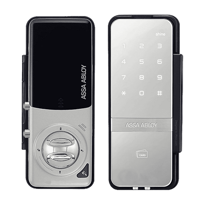 ADAMS RITE Shine Digital Glass Door Lock - Silver