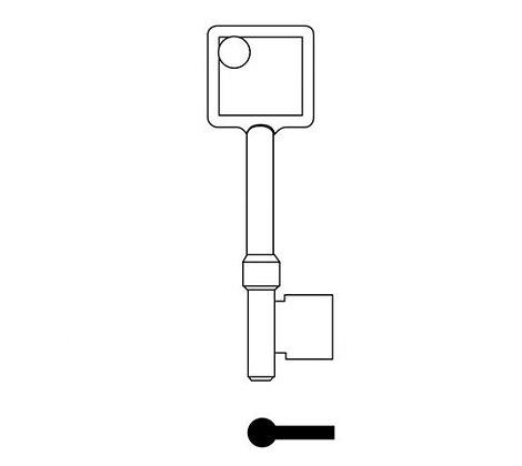 Abus TS7479 Errebi Mortice Key Blank
