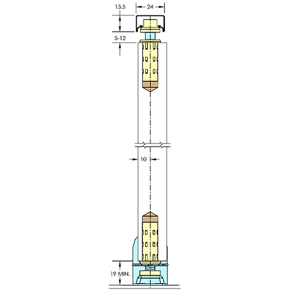 ASEC Sliding Door Gear Bifold - Up to 1250mm