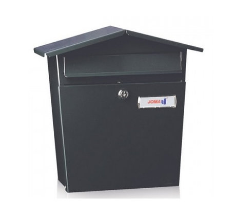 Joma Garden 51-E Post Box Matt Black
