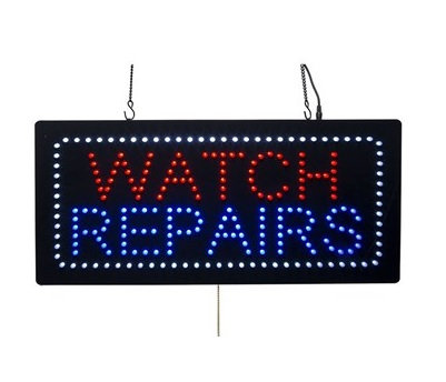 Watch Repairs LED Advertising Sign
